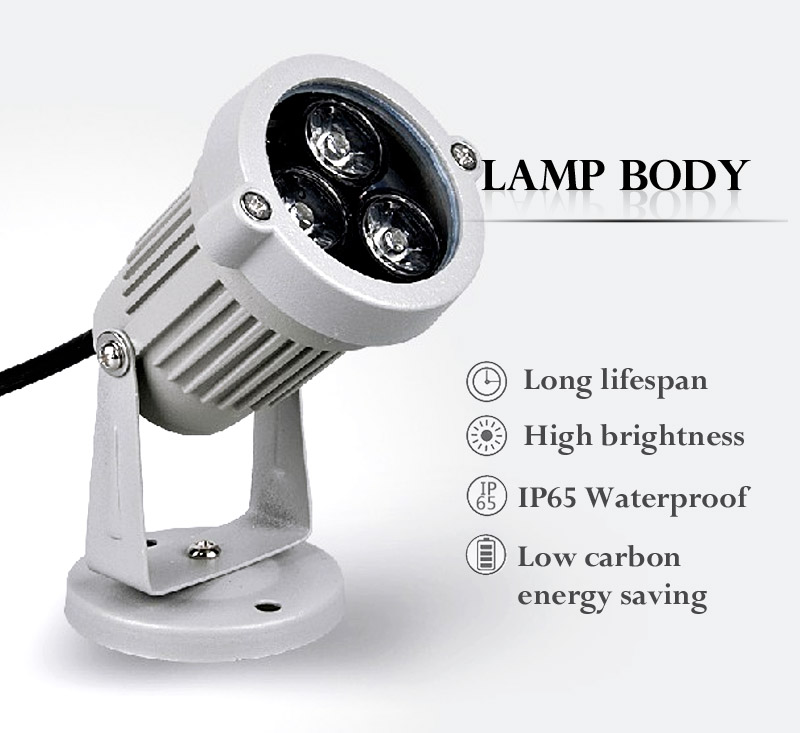3W IP65 Waterproof LED FloodLight Outdoor project-light lamp