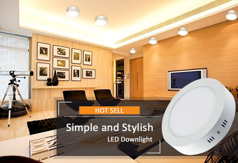 12W LED Panel Surface mounted dimmable warm/cold/natural/ white
